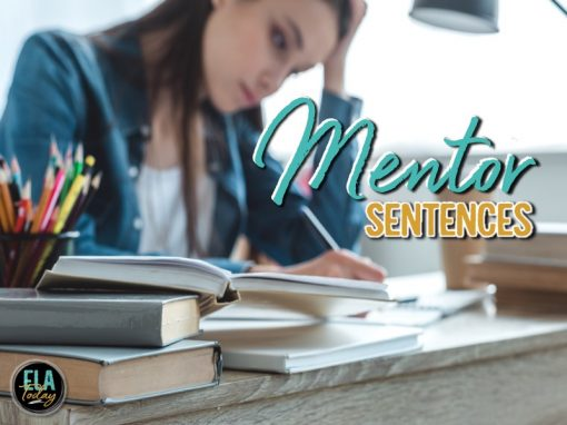 Teaching ideas for mentor sentences in secondary #mentorsentences #highschoolela