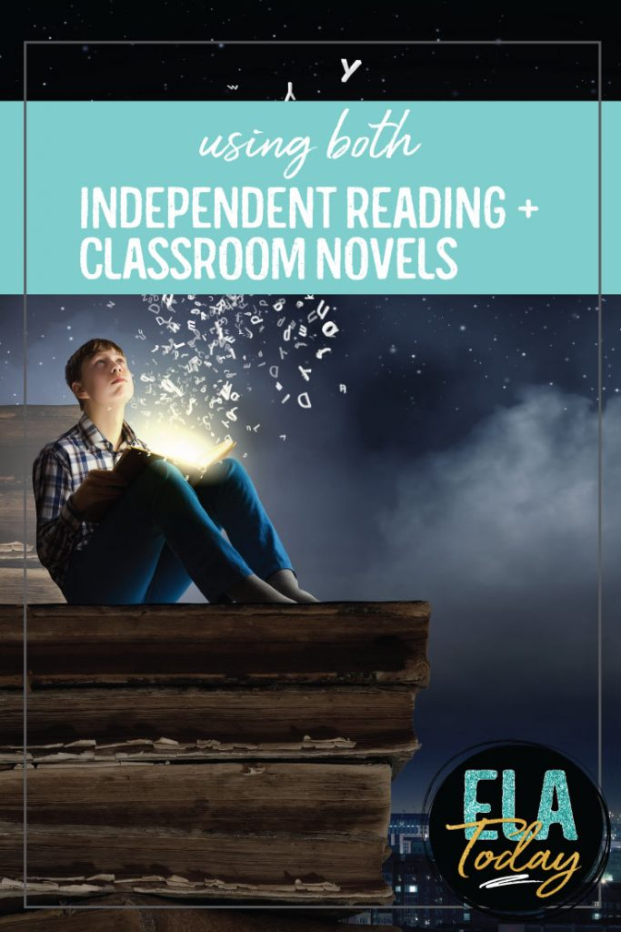 Encourage a love of reading in your ELA classroom with both independent reading and classroom novels. Find the approach that will work best for you and your students. #HighSchoolELA #LanguageArts