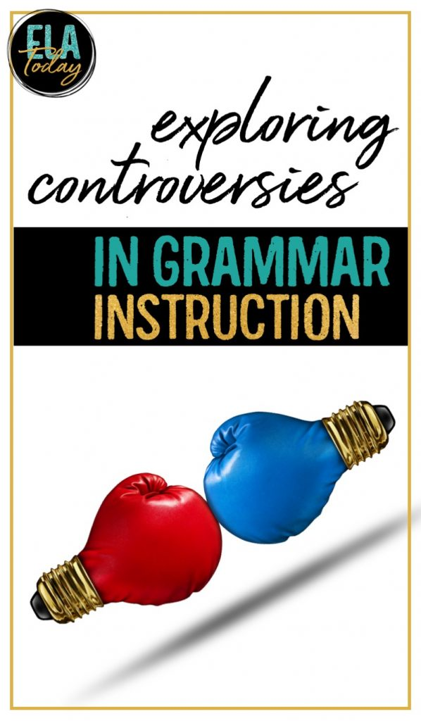 Confused about grammar? Let's explore some common debates and questions to discuss effective instruction. #HighSchoolELA #teachinggrammar