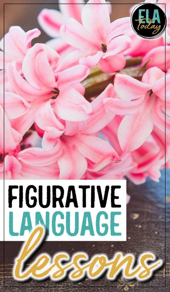 Figurative language lessons, poem selections, and activities for secondary ELA #HighSchoolELA #FigurativeLanguage