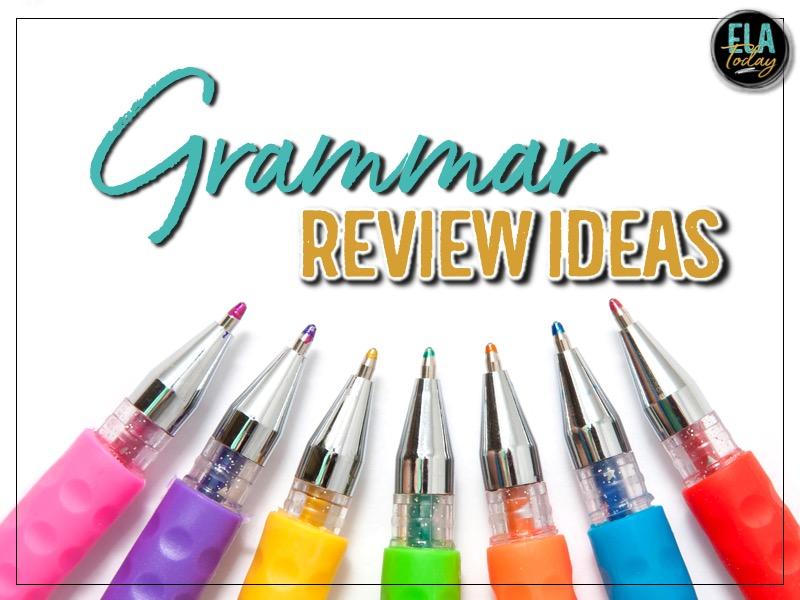 Grammar review games and activities for middle and high school ELA #HighSchoolELA #GrammarActivities