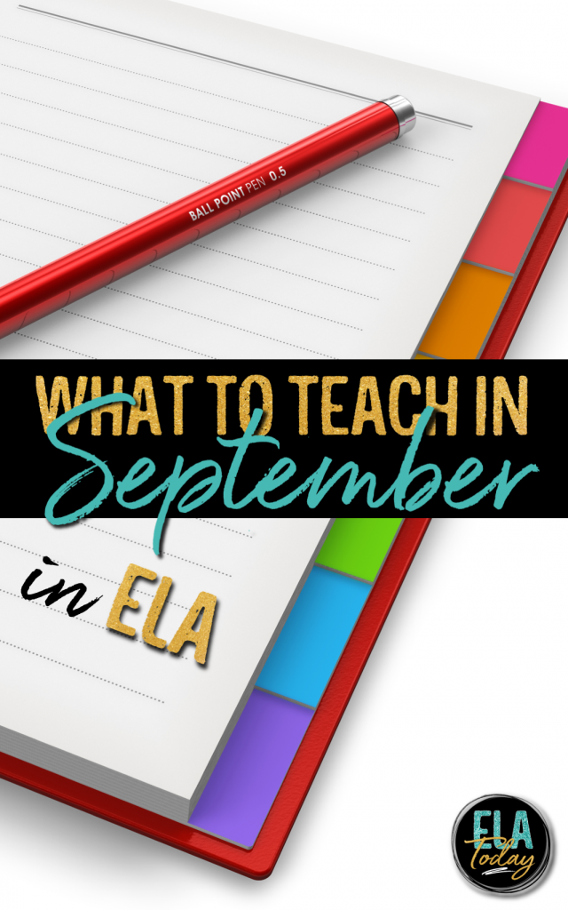 ELA Lesson Plans for the Month of September #LessonPlans #SecondaryELA