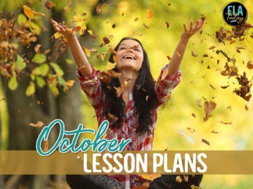 ELA lesson plans for the month of October #HighSchoolELA #MiddleSchoolELA #HalloweenLessonPlans