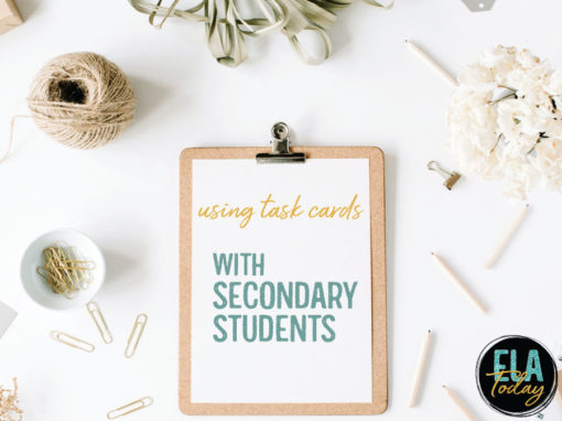 Task cards are appropriate for secondary students. Here are five reasons to use task cards with high school students.