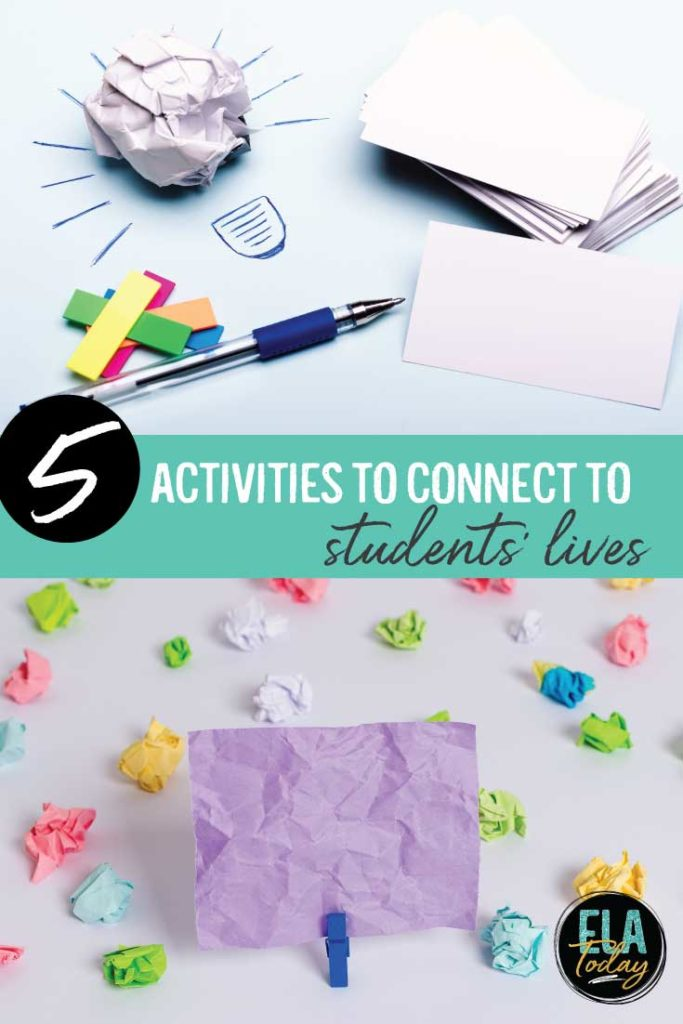 Teenagers frequently want to know when they will use the material we teach in their lives. These are perfect activities to connect to students' lives.