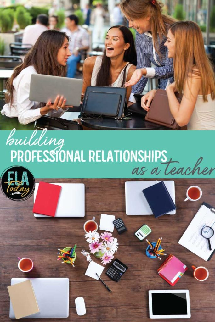 Building professional relationships as a teacher is important. You'll sit on committees with coworkers, see them long into the night during parent-teacher conferences, and depend on them for help. #TeacherLife #PLC #NewTeachers
