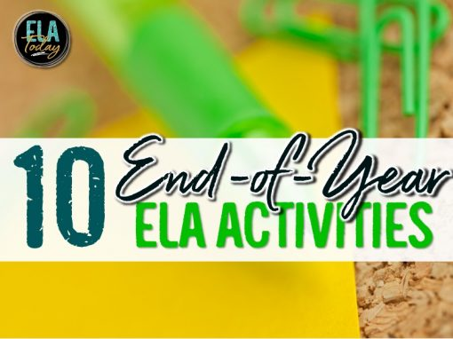 10 end of year ELA activities for middle and high school ELA #MiddleSchoolELA #HighSchoolELA #EndofYear
