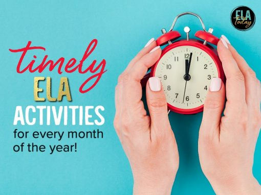 Timely ELA activities for every month of the school year! #MiddleSchoolELA #HighSchoolELA #TeachingELA