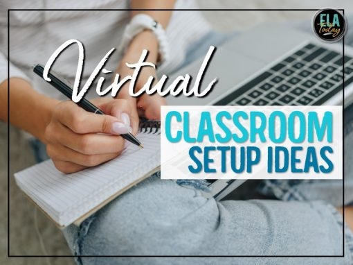 Virtual classroom setup and organization ideas for middle and high school #MiddleSchool #HighSchool #VirtualClassroom #ClassroomSetup