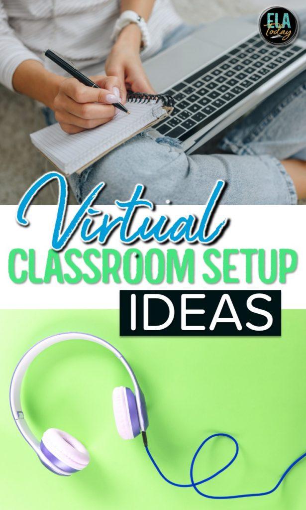 Virtual classroom setup ideas. Organization and design approaches for online teaching.  #DigitalClassroom #BacktoSchool #ClassroomSetup