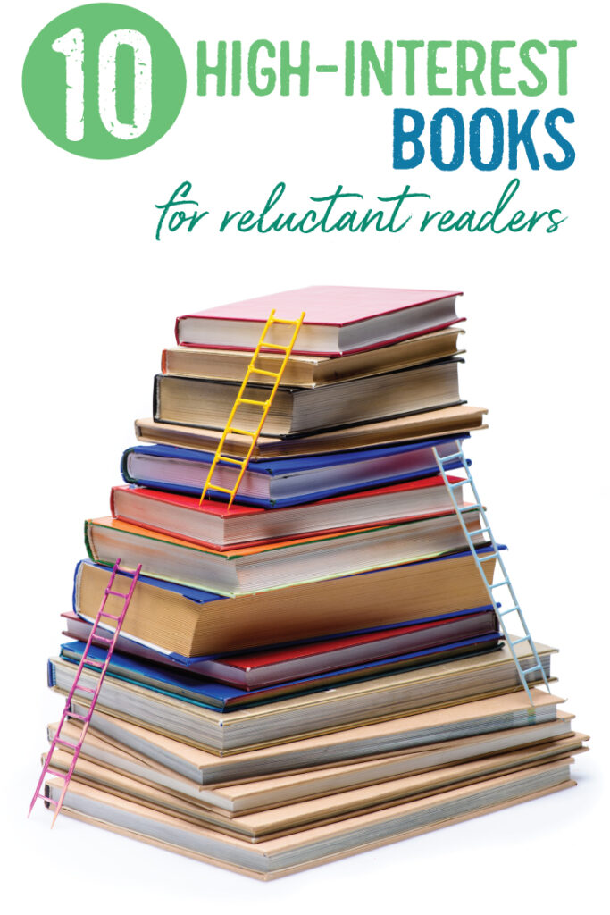 Engage reluctant readers with high-interest books for reluctant readers. Middle school ELA and high school ELA classroom library options.