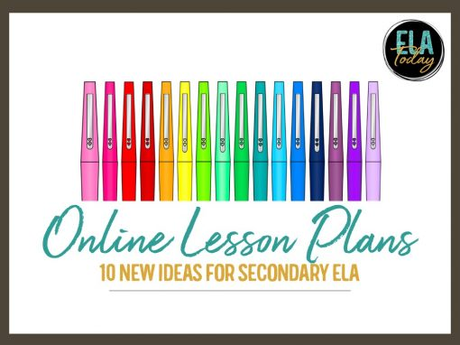 10 Lesson Plans for Teaching English Online #HighSchoolELA #MiddleSchoolELA #DistanceLearningTpT